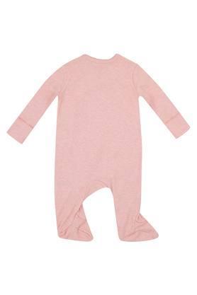 Kids V Neck Embroidered Babysuit