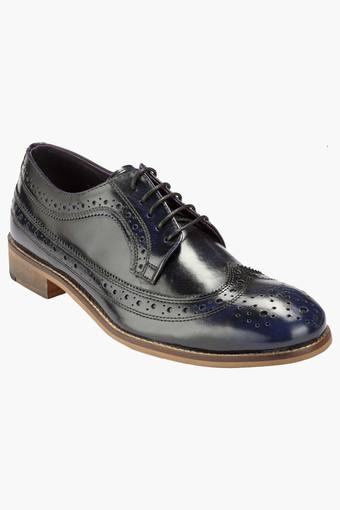 051e4229d01b7 Buy HATS OFF ACCESSORIES Mens Leather Lace Up Smart Formal Shoes | Shoppers  Stop