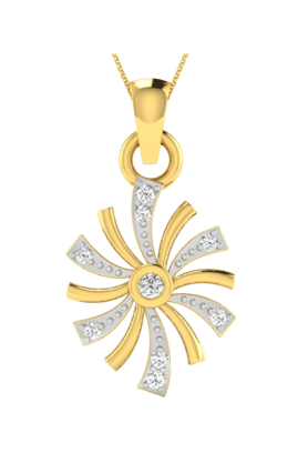 SPARKLES His & Her Collection 18 Kt Pendant In Gold & Real Diamond HHP10361