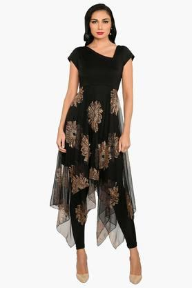 IRA SOLEILWomens Printed Anarkali Kurta (Buy Any Ira Soleil Product And Get A Charms Bracelet Free) - 201787585