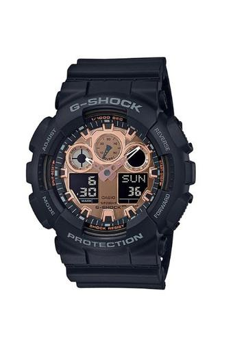 Unisex G-Shock Champagne Dial Resin Analogue-Digital Watch - GA-100MMC-1A