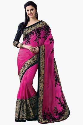 ASHIKA Women Satin Chiffon Saree - 201905515