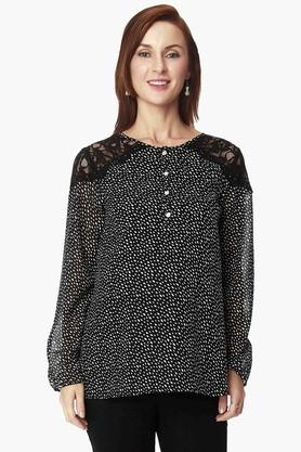 NINE MATERNITY Womens Round Neck Printed Top - 202345107