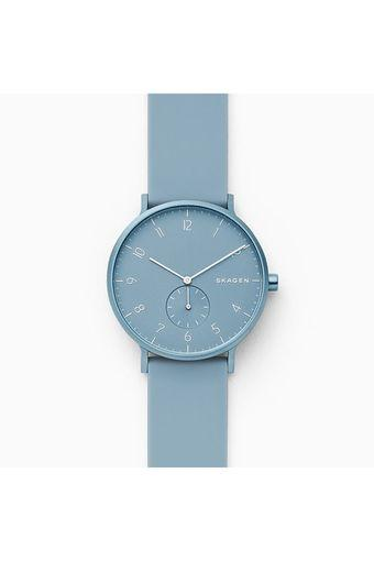 Unisex Aaren Kulor Blue Dial Silicone Analogue Watch - SKW6509