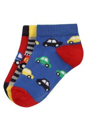 Boys Printed Knitted Socks Pack of 3