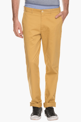 COLOR PLUS Mens Slim Fit Solid Chinos