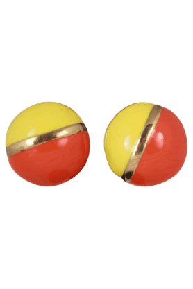 JAZZ Yellow And Red Beautiful Earring