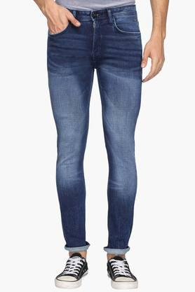 Vdot Jeans (Men's) - Mens Ultra Slim Fit Heavy Wash Jeans (Rock Fit)