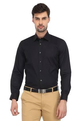 02513b965e X LOUIS PHILIPPE Mens Solid Casual Shirt. LOUIS PHILIPPE