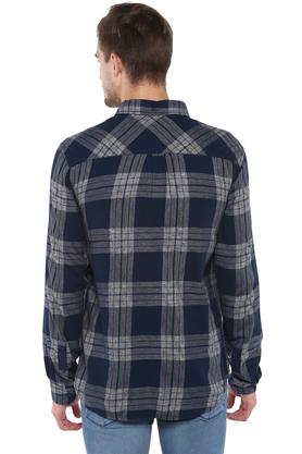 Mens Button Down Collar Check Shirt