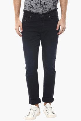 SPYKAR Mens Skinny Fit 5 Pocket Coated Jeans  ...