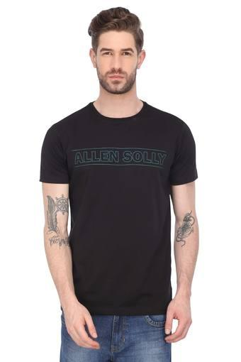 ALLEN SOLLY -  Black T-shirts - Main
