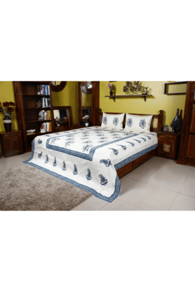 IVY Double Bed Cover - Jaipuri Print