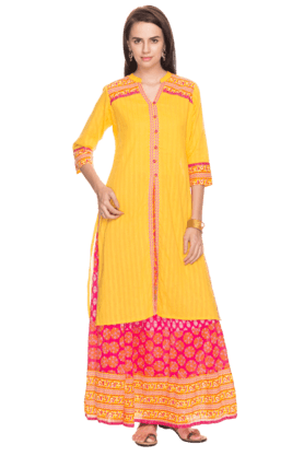 STOP Women Printed Kurta And Skirt Set
