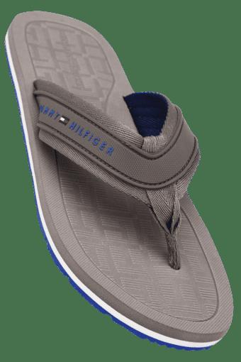 TOMMY HILFIGER -  GreySlippers & Flip Flops - Main