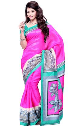 DEMARCADe Marca Pink Art Silk Designer DF-399A Saree