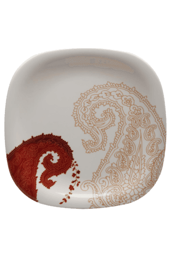 Square Small Plate - Paisley Vibes