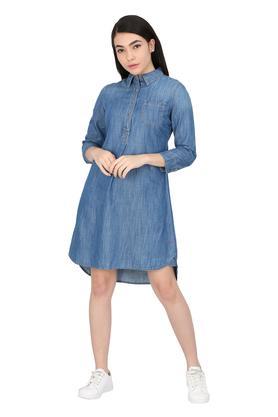Womens Washed A-Line Dress