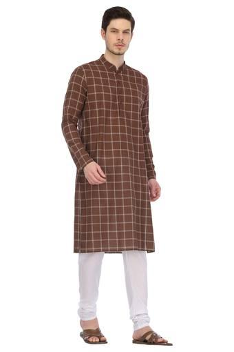 ETHNIX -  Dark Brown Ethnic Wear - Main