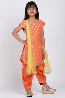 BIBA GIRLS - OrangeSalwar Kurta Set - 3
