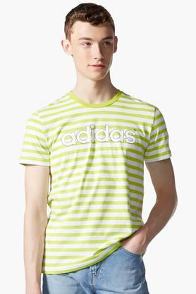 ADIDAS Mens Round Neck Stripe T-Shirt