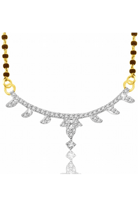 SPARKLES Gold Mangalsutra With Diamond Pendant Set N9250