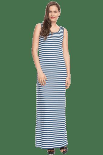 Women Striped Maxi Dress