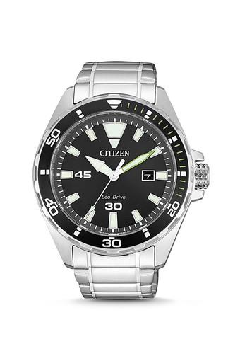 Mens Black Dial Stainless Steel Analogue Watch - BM7451-89E