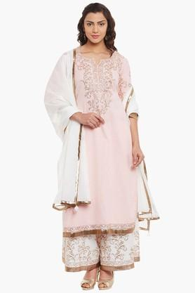 BIBA Womens Cotton Straight Suit Set - 202179627