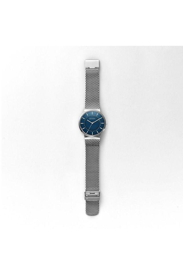 Mens Blue Dial Metallic Analogue Watch - SKW6234