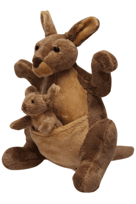 Happiness Inflatable Toys - Unisex Cotton Soft Toy Mother Kangaroo with Baby