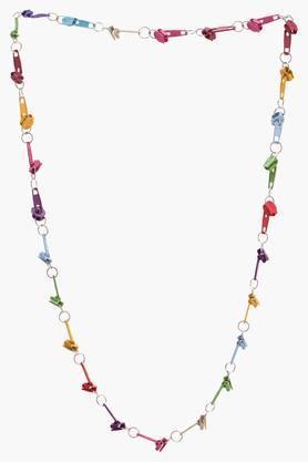 Girls Metal Zip Necklace (3 Years +)