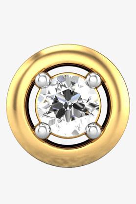 VELVETCASEWomens 18 Karat Yellow Gold Nose Ring (Free Diamond Pendant) - 201065030