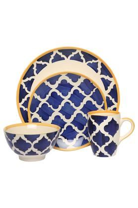 Moroccan Printed Breakfast Set of 16