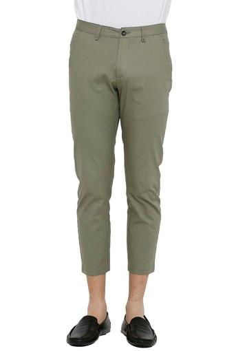REX STRAUT JEANS -  Green Casual Trousers - Main