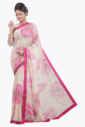 JASHN Womens Printed Saree - 201502500