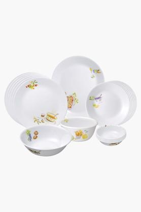 CORELLE Gold Organic Recipe 21 Pcs Dinner Set