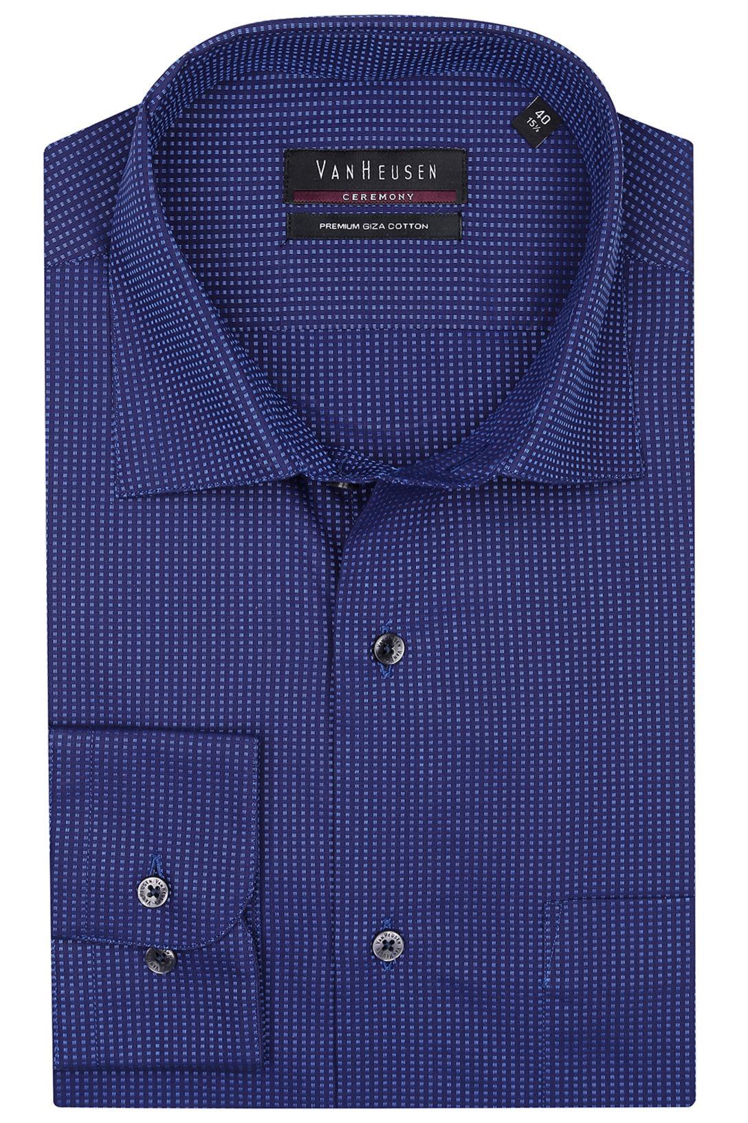 78104e87 Buy VAN HEUSEN Van Heusen-Mens Full Sleeves Custom Fit Formal Check Shirt |  Shoppers Stop