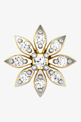 VELVETCASEWomens 18 Karat Yellow Gold Nose Ring (Free Diamond Pendant) - 201064994