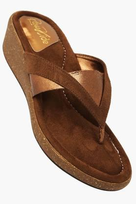 RAW HIDE Womens Casual Slipon Wedge Sandal - 201177515