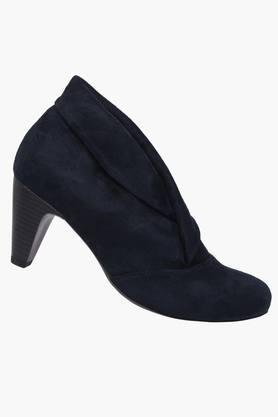 Womens Suede Slip On Ankle Boots