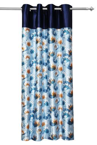 Floral Printed Eyelet Door Curtain