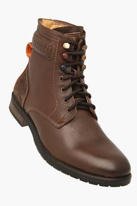 ALBERTO TORRESI Mens Leather Lace Up Casual Boot - 201389284