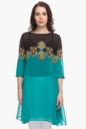 IMARA Womens Printed Regular Fit Tunic