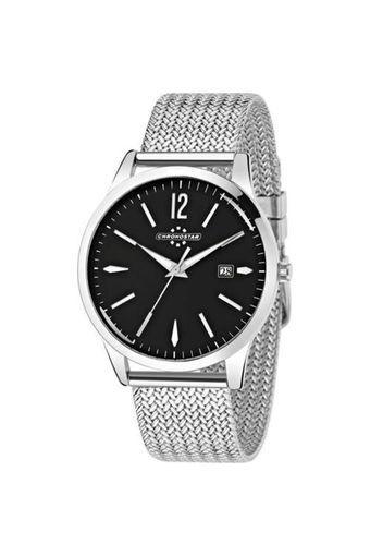 Mens Black Dial Metallic Analogue Watch - R3753255003