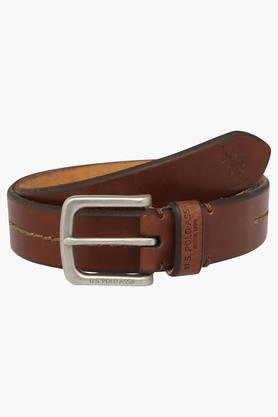 U.S. POLO ASSN. Mens Leather Buckle Closure Casual Belt  ... - 202132330