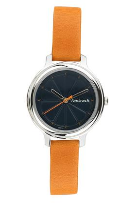 Womens Navy Blue Dial Leather Analogue Watch - 6202SL01