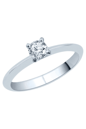 Solitaire Ring in 1.55gm 925 Sterling Silver