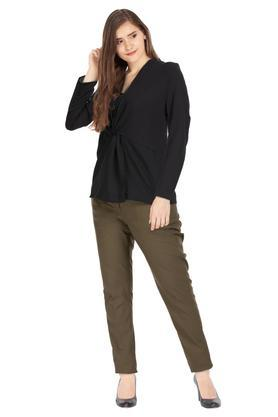 VAN HEUSEN - Olive Trousers & Pants - 3