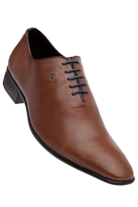 ALBERTO TORRESIMens Brown Leather Smart Formal Lace Shoe